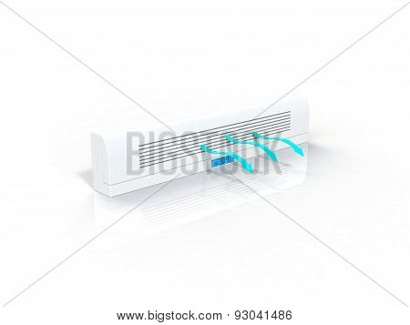 air-conditioner 3d render image
