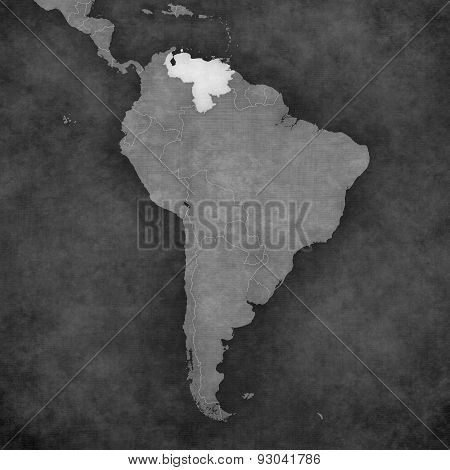 Map Of South America - Venezuela