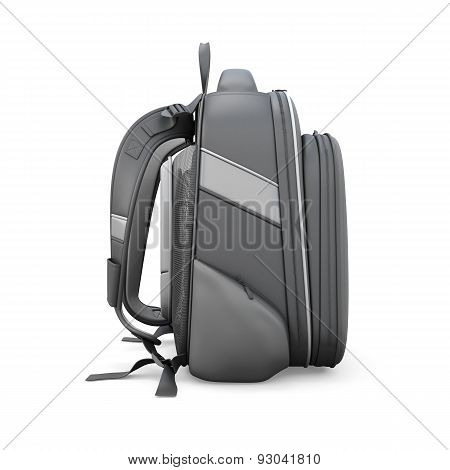 Black Backpack Side View