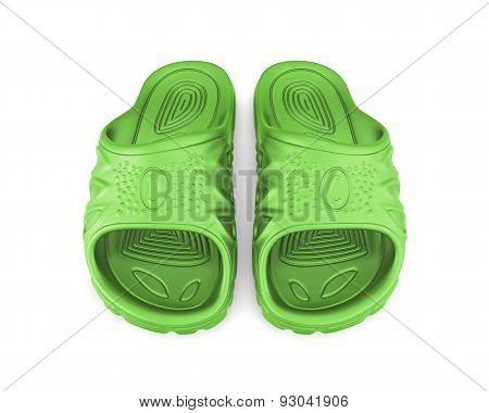Green Beach Sandals