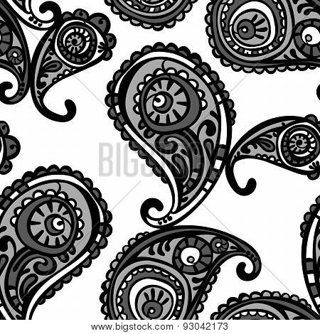 Paisley. Vector seamless illustration depicting paisley. Bright ornament.