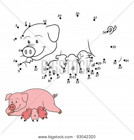 Numbers Game (pig Mommy With Piget)