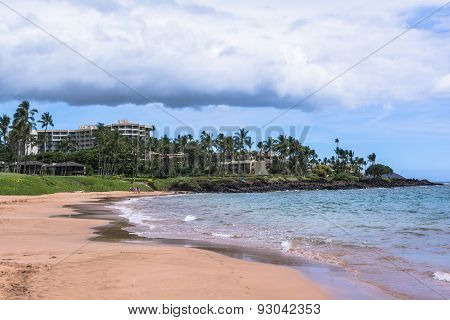Sand beach at Wailea in Maui, Hawaii