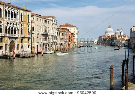 View Of The Grand Canal, Venice, Italy