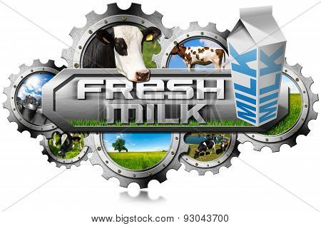 Production Of Fresh Milk - Metal Gears