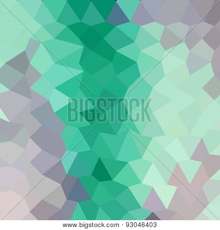 Celadon Green Abstract Low Polygon Background