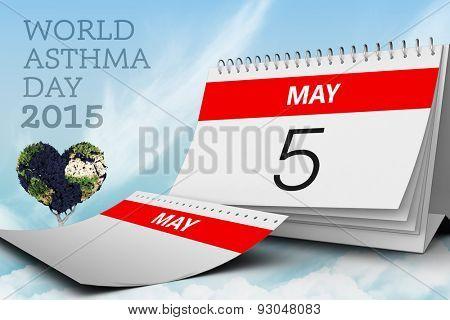 world asthma day against blue sky