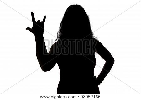 Image of woman's silhouette showing horns
