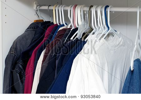 Jackets And Shirts Inside Closet