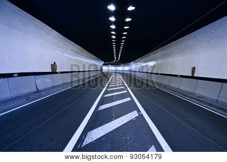 road inside tunnel