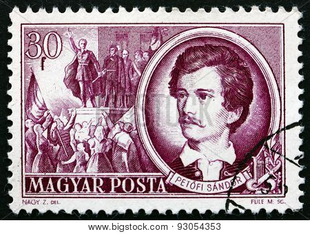 Postage Stamp Hungary 1952 Sandor Petofi, Poet