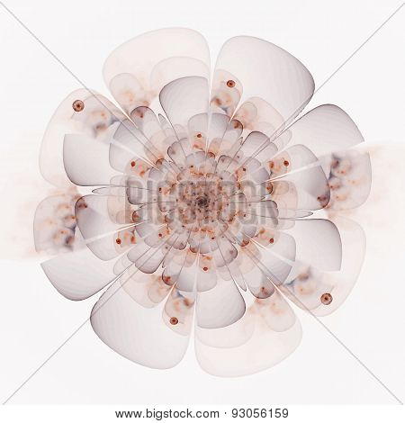 Digitally recreated watercolor flower texture