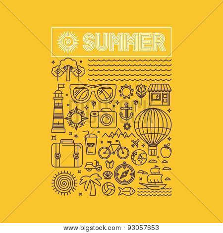 Vector Summer And Vacation Poster