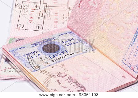 Visa In The Passport