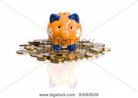 coin bank on euro coins