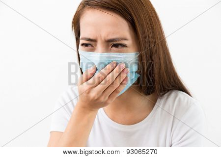 Young sick woman got flu