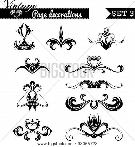 Vector Set of Vintage Page Decorations