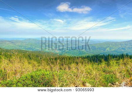 HIghland landscape in spring.