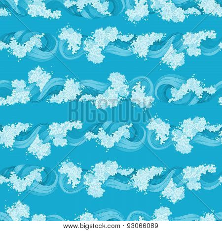 Vector Boundless Ocean Pattern