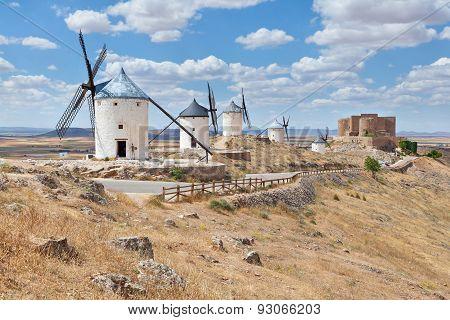 Famous Windmills Of Consuegra, Toledo Province, Spain