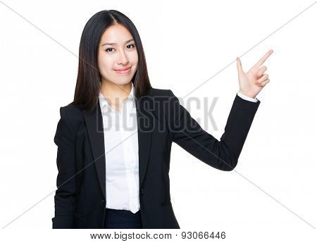 Asian businesswoman finger with tick sign