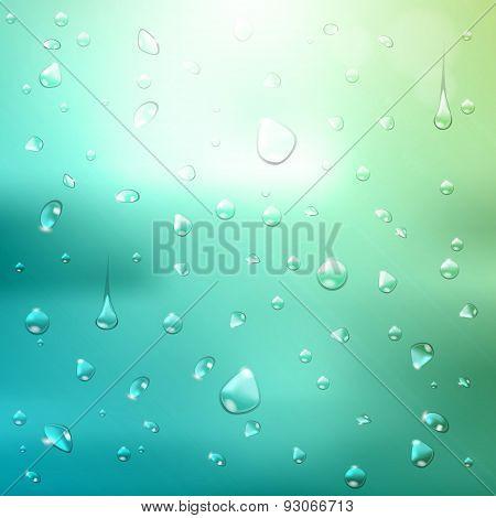 Summer  Background. Waterdrops