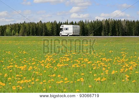 LMC Liberty Motorhome On Scenic Spring Road