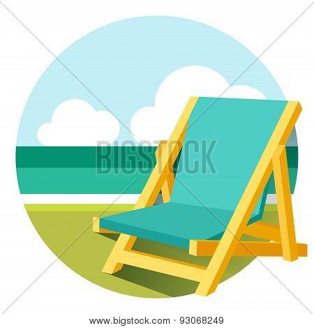 Beach Chair Illustration