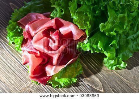 Jamon With Salad