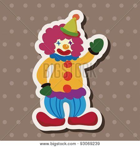 Amusement Park Clown Theme Elements