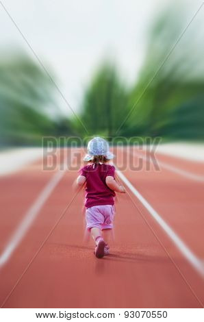 Little Girl On The Track