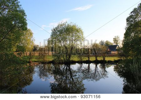 Picturesque Lake In The Privat Possesion