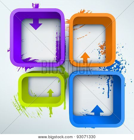Abstract 3d vector Illustration with place for text.