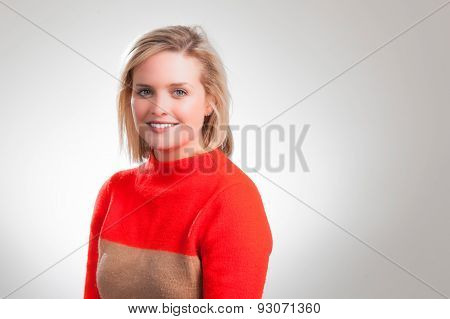 Young Pretty Blonde Corporate Headshot
