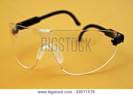 Safety Glasses On Yellow
