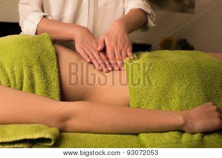 Woman Having Waist Massage