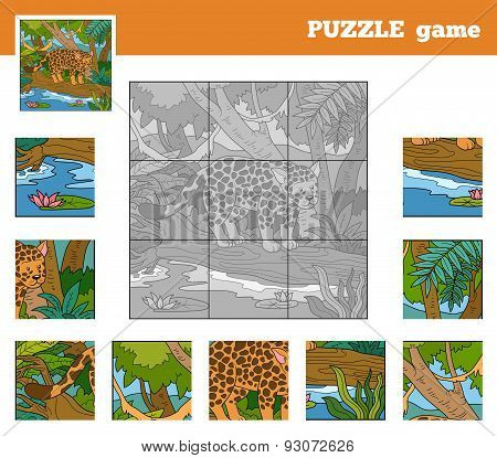 Puzzle Game For Children With Animals (jaguar)