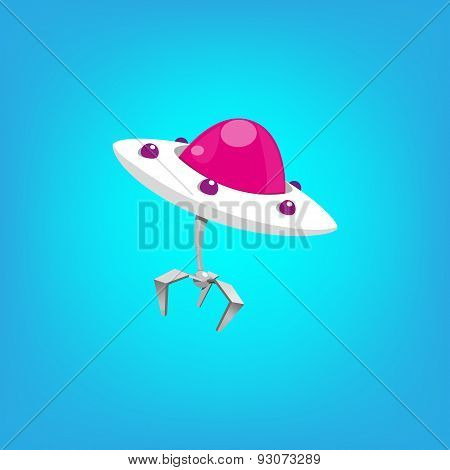Pink flying ufo