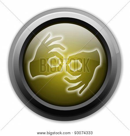 Icon, Button, Pictogram Sign Language