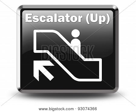 Icon, Button, Pictogram Escalator Up