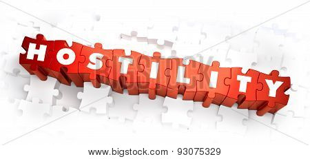 Hostility - Text on Red Puzzles.