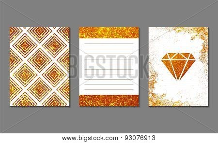 Set of 3 golden cards