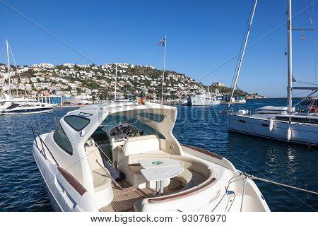 Luxury Motorboat In Roses, Spain