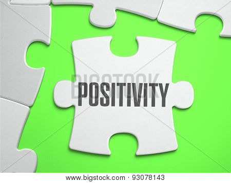 Positivity - Jigsaw Puzzle with Missing Pieces.