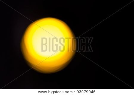 Abstract Yellow Light For Overlays And Compositions