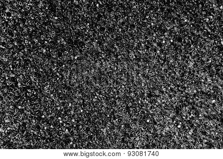 white and black porous texture