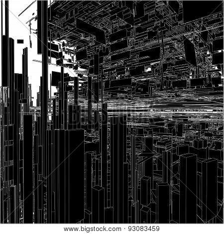 Futuristic Megalopolis City O...