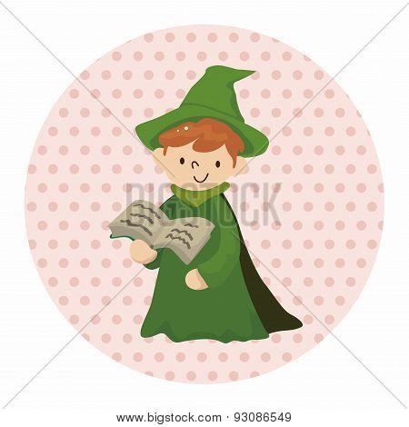 Witch Cartoon Theme Element