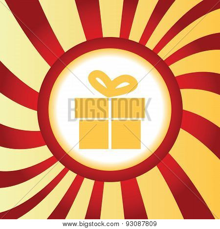 Gift box abstract icon