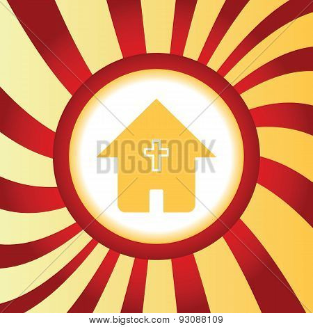 Christian house abstract icon